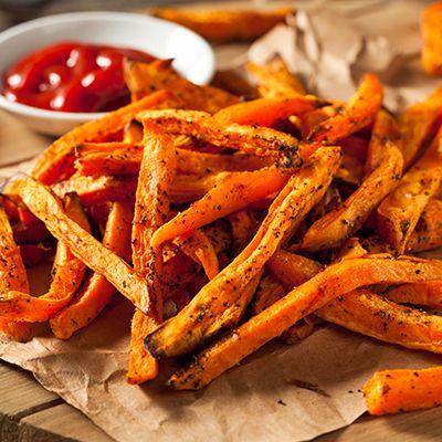 Les 25 meilleures id es de la cat gorie frites au four sur pinterest frites fait maison - Frite de patate douce au four ...