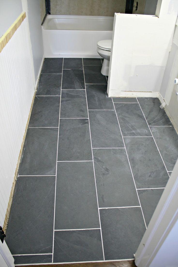 Best 25 12x24 tile ideas on pinterest bathroom tile designs how to tile bathroom floor home diy slate dailygadgetfo Image collections