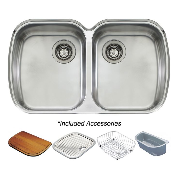 Oliveri Monet Double Bowl Undermount Sink (MO70U) Extra Capacity Bowl 350 x 420 x 180mm deep – 24L Waste holes compatible with waste disposal 2 x 90mm basket wastes included AC71 Drainer basket AC72 'D' Colander AC73 18/10 Stainless steel … Continued