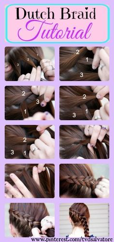 Dutch Braid Tutorial. Step-by-step.
