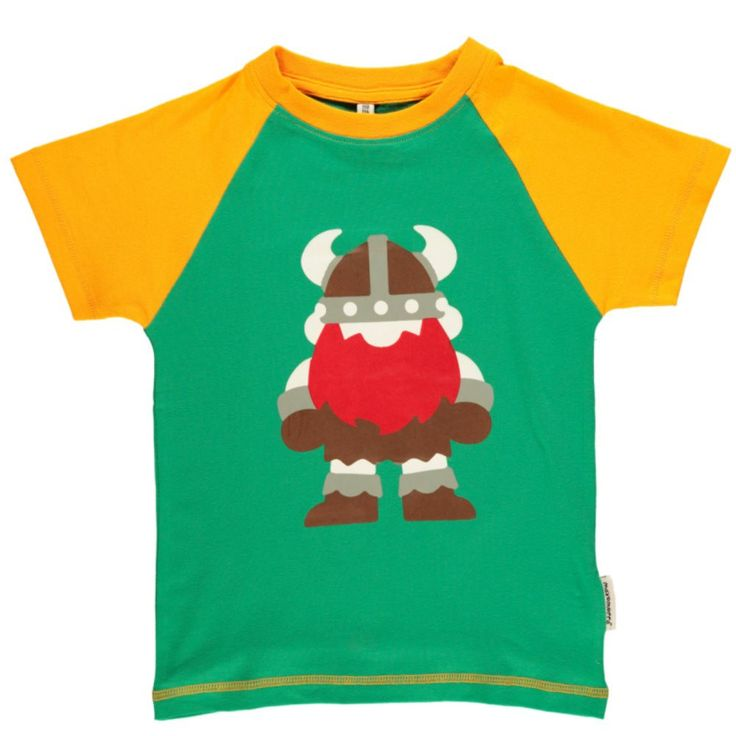 Vikings t-shirt! Much loved by children who enjoy bright, bold colours. Available for ages 3 - 8 years.