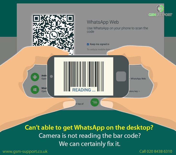 Can't able to get WhatsApp on the desktop?  Camera is not reading the bar code? We can certainly fix it. Visit our site