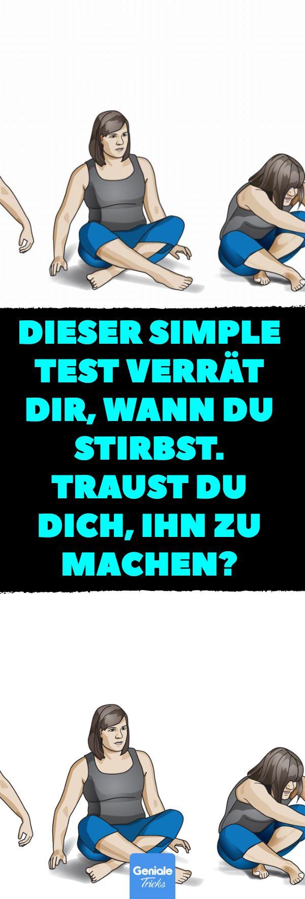 Dieser simple Test verrät dir, wann du stirbst. Traust du dich, ihn zu machen? Mit diesem Test kannst du sehen, wie fit du bist. #Test #Fitness #sportlich #Vorhersage #Tod #Selbsttest – Maria Dausner