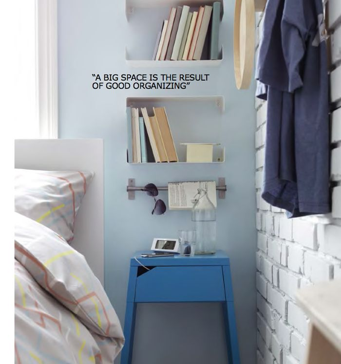 like the nightstand- could put a basket under it for addtl storage > Poppytalk: IKEA 2015 Catalog | Trend Report