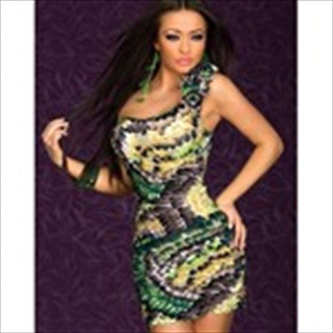 Seductive Sloping Shoulder Style Strapless One-piece Skinny Skin-tight Dress with feather Style for Women Ladies