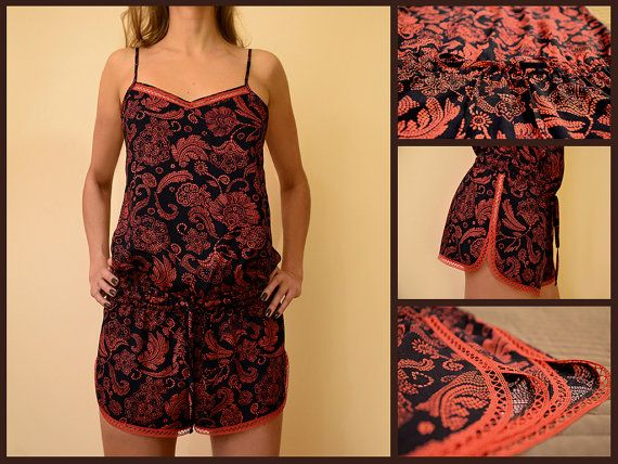 MildDream Pajamas Set In Dark Blue Color With Red by MildDream