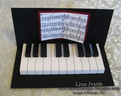 small stamp card template   This project contains the directions for TWO fun piano cards! I had so ...