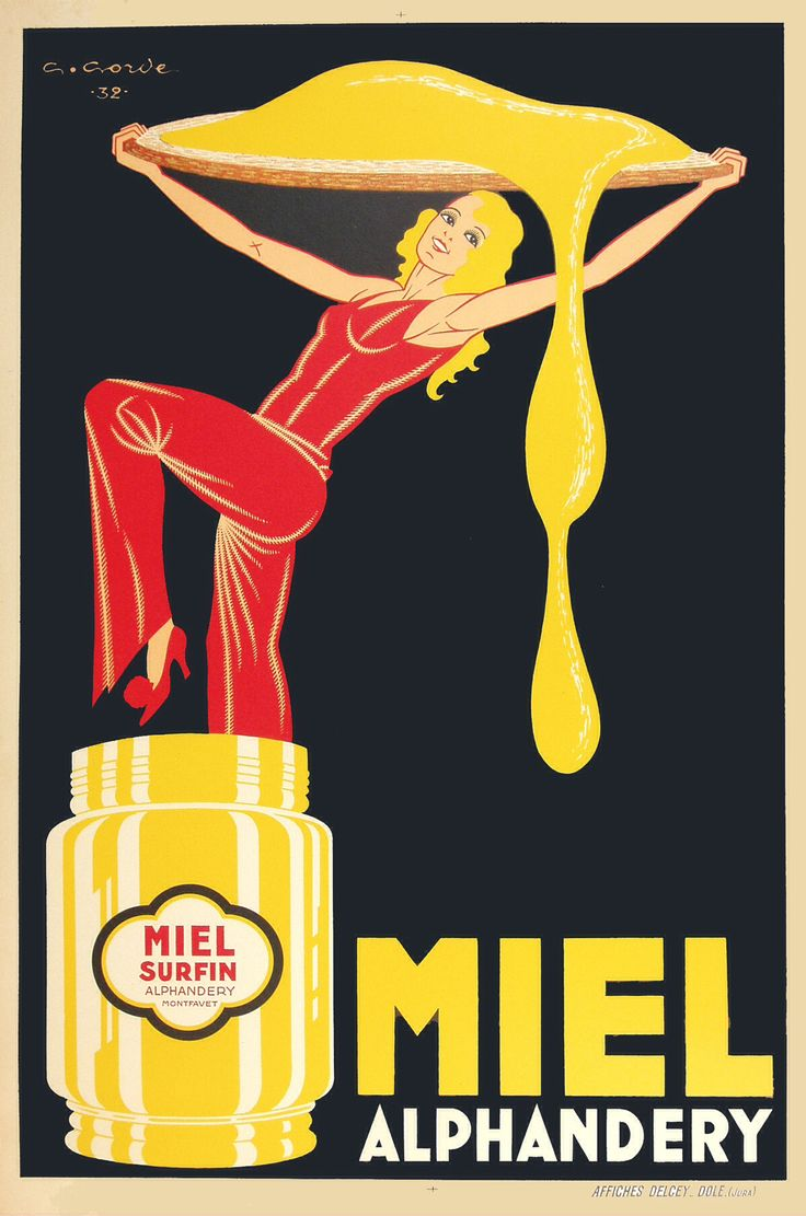 Vintage Advertising Posters | Italian #Homey #miel