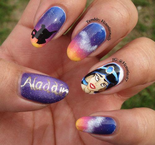Princess Jasmine Nails: 89 Best Images About Nail Art On Pinterest