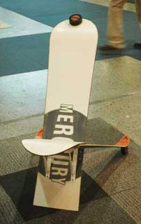 Recycle...snow board ski chair