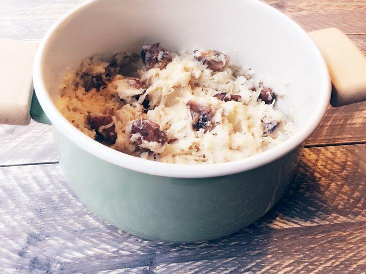 Zuurkoolschotel met bloemkoolpuree en champignons - PowerSlim
