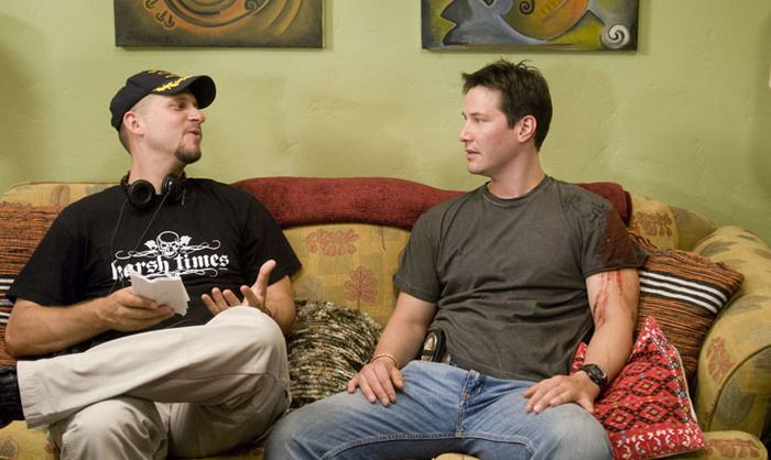 Keanu Reeves and David Ayer in Street #movie