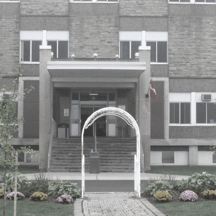 RMC Regina Mundi College London Ontario Canada. Front of school and peace garden 2013 oct 5.