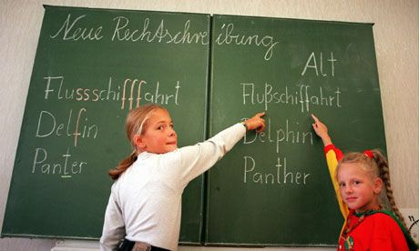 Language: Kids in Germany are required to take English as a subject. The language they teach there differs just a little to the actual language.