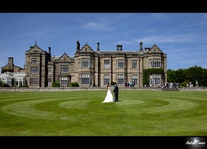 Matfen Hall in Northumberland just north of Newcastle England houses this 19th century Jacobean Mansion , home to a world class golf course and spa and an amazing wedding venue.  photo © wedding photographers northumberland http://www.andrew-davies.com/matfen-hall.htm