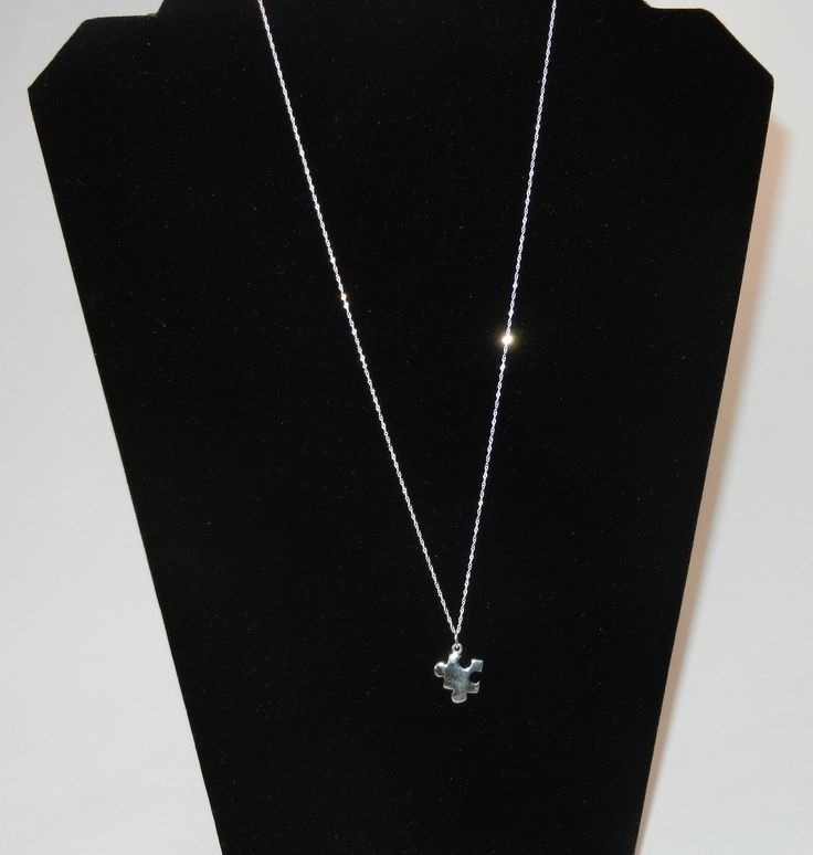 Sterling Silver Autism Awareness Necklace