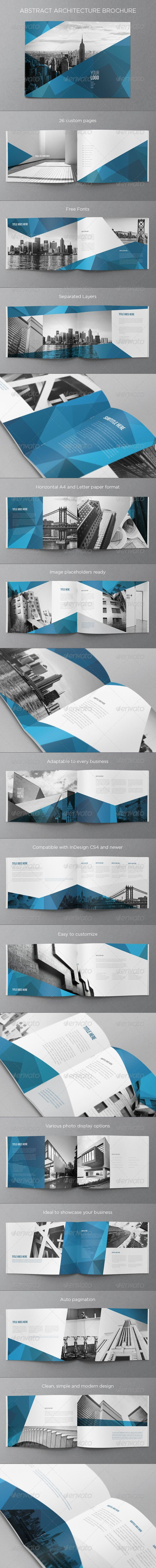 Abstract Architecture Brochure — InDesign INDD #texture #white • Available here → https://graphicriver.net/item/abstract-architecture-brochure/7385718?ref=pxcr