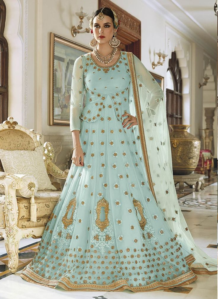 Sky Blue Heavy Embroidered Designer Anarkali Suit  https://www.ranafashions.in/salwar-suits/sky-blue-heavy-embroidered-designer-anarkali-suit-4682.html