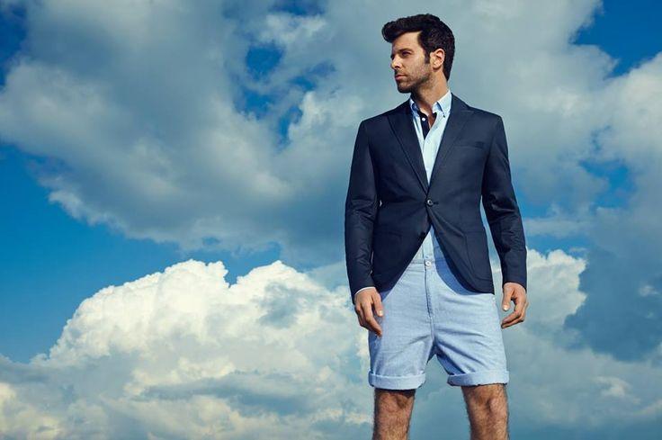 Top Secret dla mężczyzn - elegancka marynarka i modne szorty - odważne połączenie do pracy.