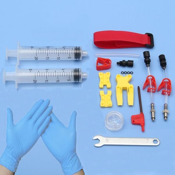 Freno de disco hidráulico portátil sangrar el llenado de herramientas de aceite de kit para el motor de coche bicicleta de montaña