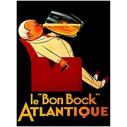 Le Bon Bock' Large 24 x 32 x 1.5 Giclee Traditional Framed Art