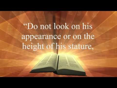 "Motivational Bible Verses | 1 Samuel 16:7 | Bible verse of the day 1 Samuel 16:7 ""But the Lord said to Samuel, ""Do not look on his appearance or on the height …"