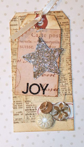 Distressed Tag On a Tag...on a glittered star tag.