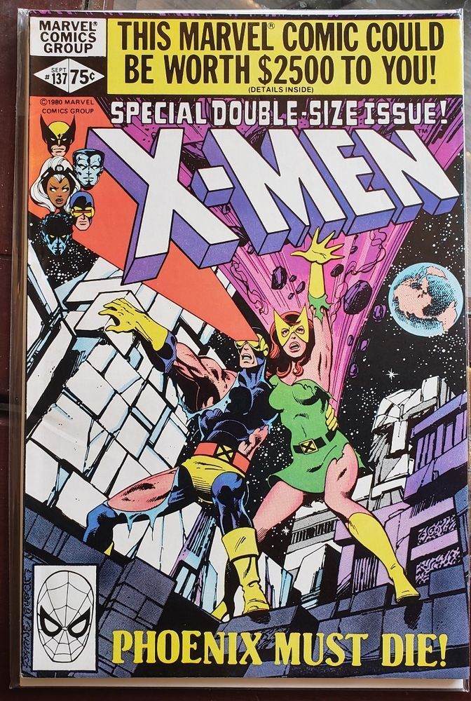 Uncanny X Men 137 Vf 1980 Marvel Comics Double Sized Dark Phoenix Saga Byrne Marvel Comic Books Xmen Comics Comic Book Covers