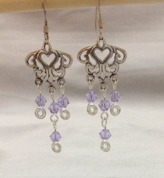 Sterling Silver Chandelier Earring with a by OritWhiteLight