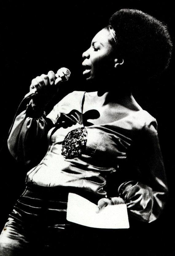 Nina Simone affiche, chanteur, musicien, pianiste, militant des droits civiques…