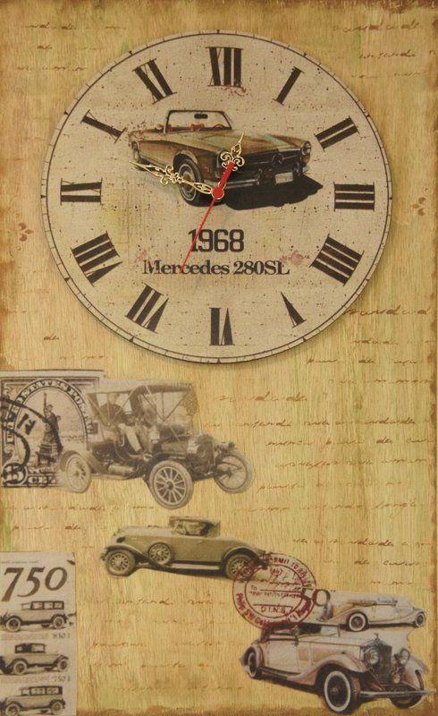 Relógio retro personalizado com o tema carro, para você apaixonado por carro. - Toque Decorativo - Crie seu estilo onde estiver!