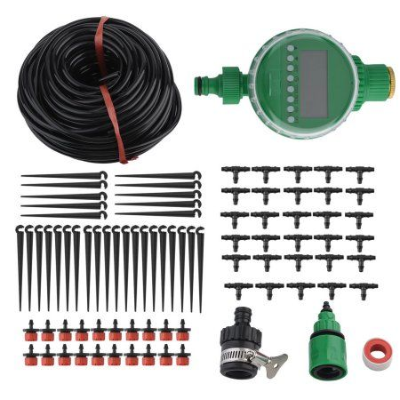 Timer Self Watering Garden Hose 25M Automatic Drip Irrigation System Kit Plant