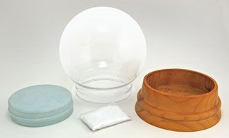 Make 1 Extra-Large Round Glass Snow Globe Kit (they have other sized too -- Deb)