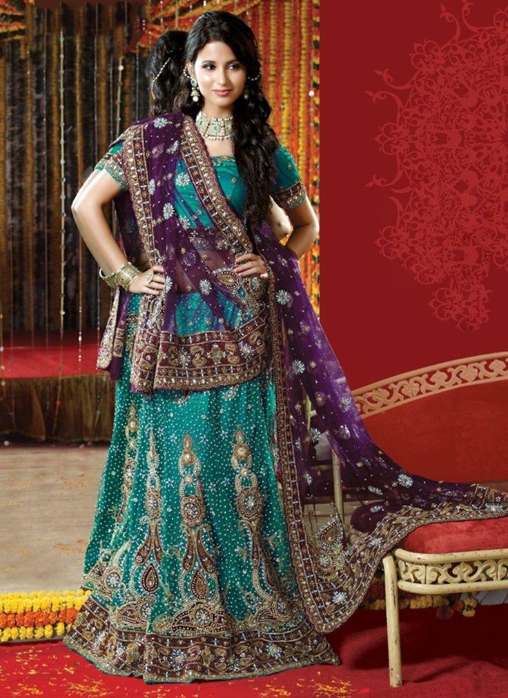 Blue Net Satin Velvet Circular Lehenga  #latest lehenga choli #designer lehenga choli #lehenga choli online #online shopping chennai #chennai online