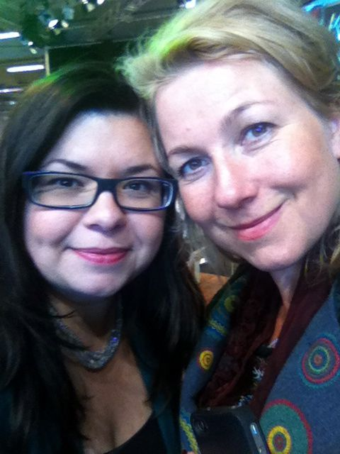 Christel Dopping and me on Swedish book fair in Gothenburg
