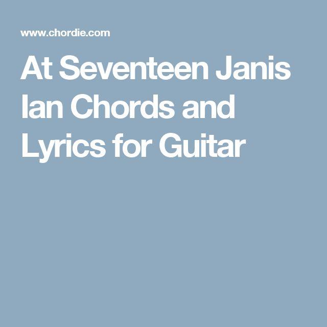 AT SEVENTEEN Chords - Janis Ian | E-Chords