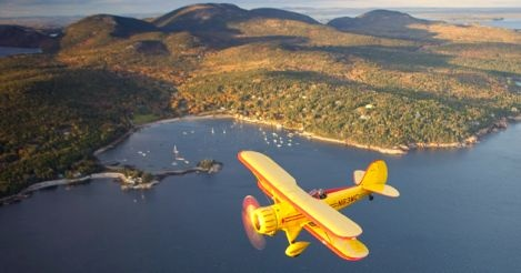 Biplane tours over Acadia National Park