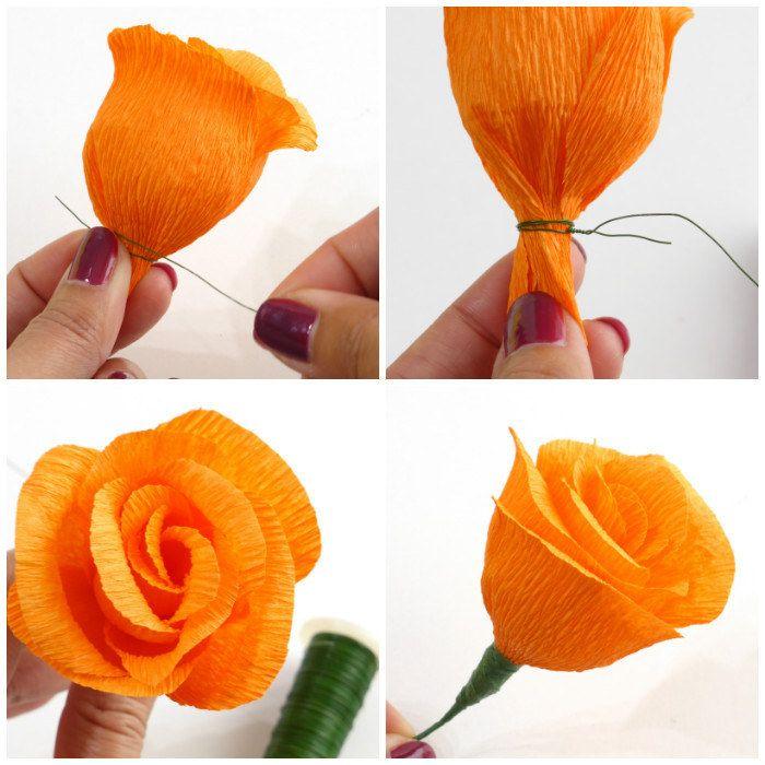 Как сделать цветы из гофрированной бумаги для открытки, международным днем