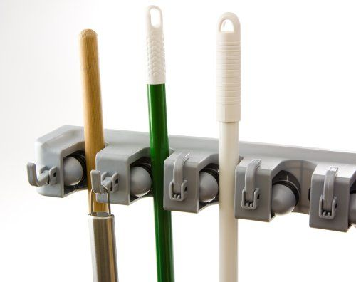 Best Broom Organizer - Holds 11 Tools - Superior Quality Tool Rack Holds Mops, Brooms, or Sports Equipment - Organize Your Garage, Pantry, Kitchen or Closet With This Wall Rack - Easily Mount on the Wall - Hang Items Securely - Premium Lifetime Guarantee Strackle,http://www.amazon.com/dp/B00CD0U3DE/ref=cm_sw_r_pi_dp_35bAsb1KAADAJ0CP