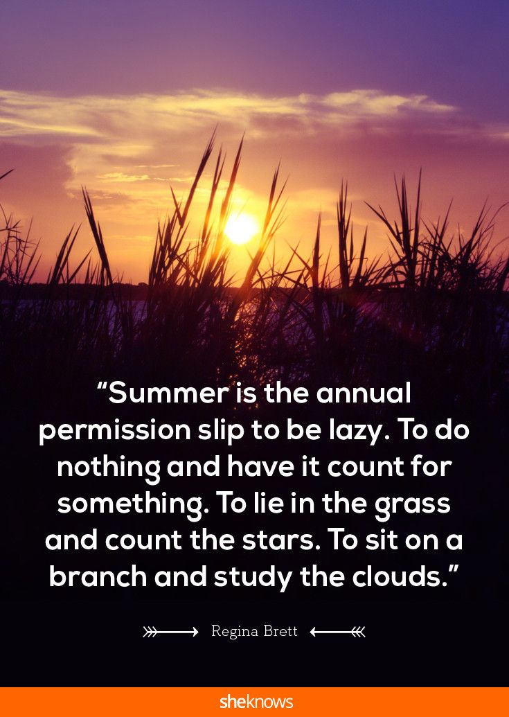 Your annual permission slip, be lazy.