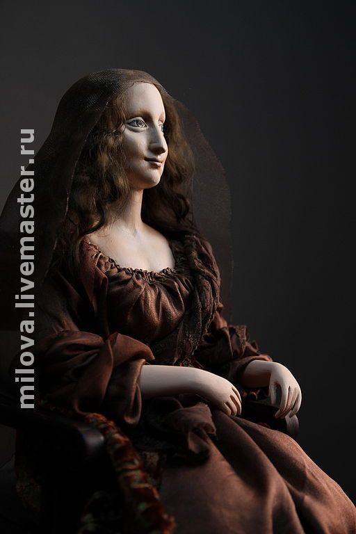 Купить Кукла Мона-Лиза Джоконда. Папер-клей, по картине Леонардо да Винчи - коллекционная кукла