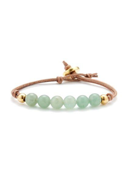 Ettika Jewelry Bead & Leather Friendship Bracelet