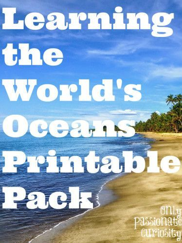 Learning about the World's Oceans - A printable pack to learn the names, locations and facts about the world's oceans.