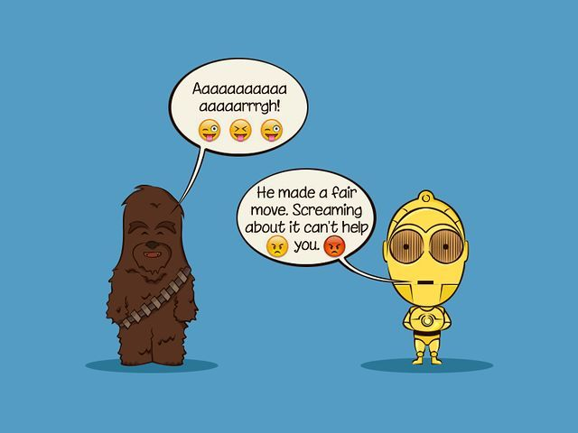 Aaaargh! - Star Wars Emoji Chat