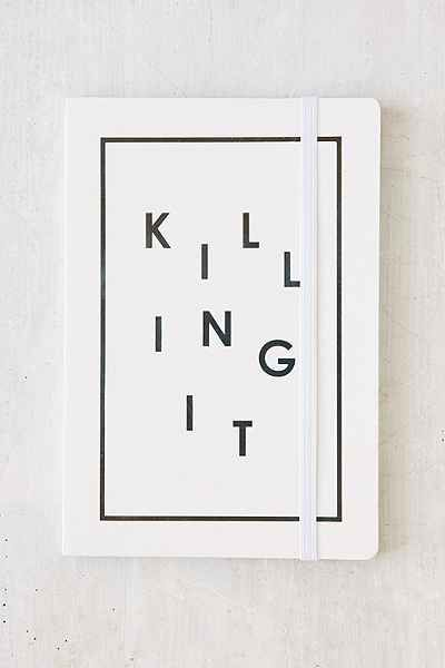 Killing It Journal ($12 at Urban Outfitters) | http://www.hercampus.com/life/travel/15-notebooks-are-perfect-your-spring-break-journal