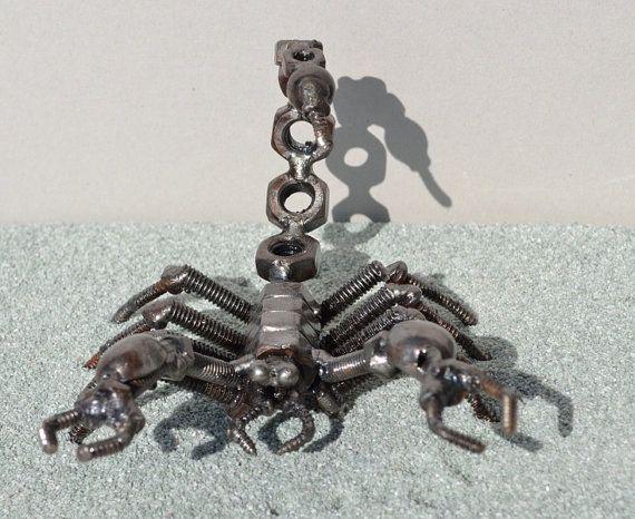 SCORPION 5 inches Scrap Metal Art by ScrapSculptures on Etsy