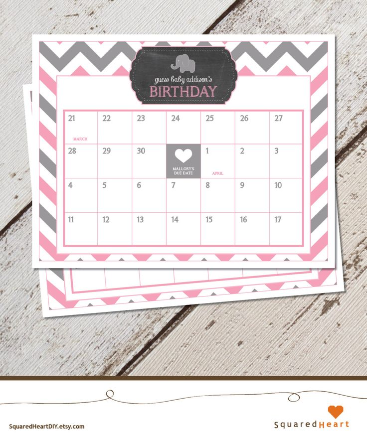 Elefanten-Baby-Dusche-Kalender, Elefant wegen Termin-Kalender, Elefant, Pink, grau, Chevron (Treffern Chalkboard, Ballon) | Druckbare von SquaredHeartDIY auf Etsy https://www.etsy.com/de/listing/258128738/elefanten-baby-dusche-kalender-elefant
