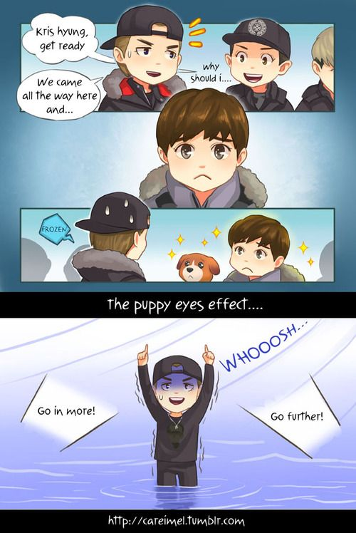 Kris and Suho from EXO Showtime ep 12 fanart