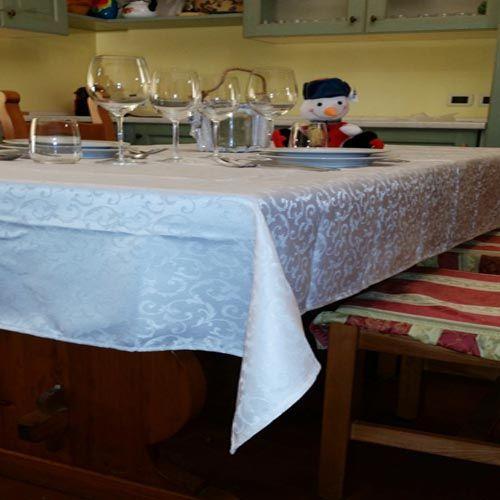 Tavola e accessori : Tovaglia Antimacchia Idrorepellente Jacquard tavolo cucina no stiro QUADRATA