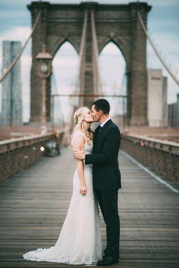 ウェディングフォト発祥の地NYで。ブルックリンブリッジで♡アメリカでの結婚式一覧♡ウェディング・ブライダルの参考に♪